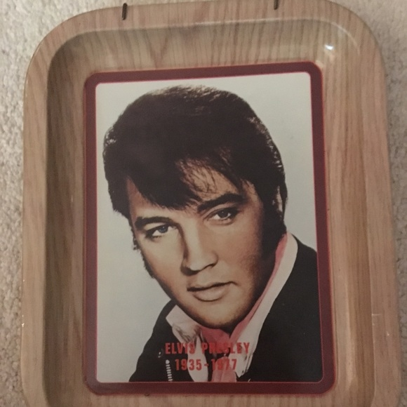 Elvis Presley Tin Picture Vintage 1935-1977